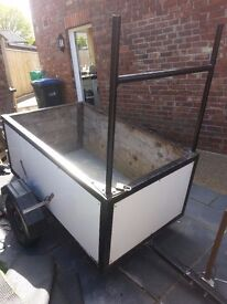 builders trailer with ladder rack