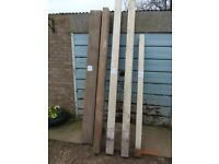 Various lengths of used timber.