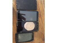 4 phones for parts or repair