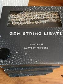 Battery operated gem lights for wedding or party