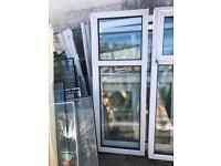 White used fixed Upvc window