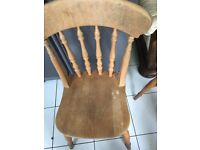 Solid wooden chair set