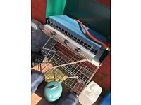 Camping stove and stand with gas canister