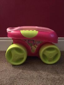 Mega Bloks First Builders Pink Wagon with Blocks