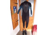 Ladies diving suit and/or shoes, as new