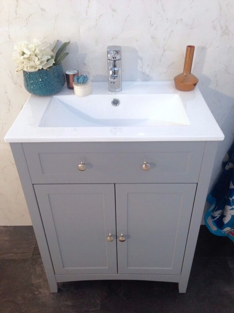 Vanity Unit Bathroom Grey the bath co camberley grey vanity unit bathroom cupboard cabinet