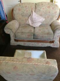 Sofa with foot stool