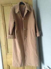 VINTAGE Wool and cashmere beige oversized coat size 14