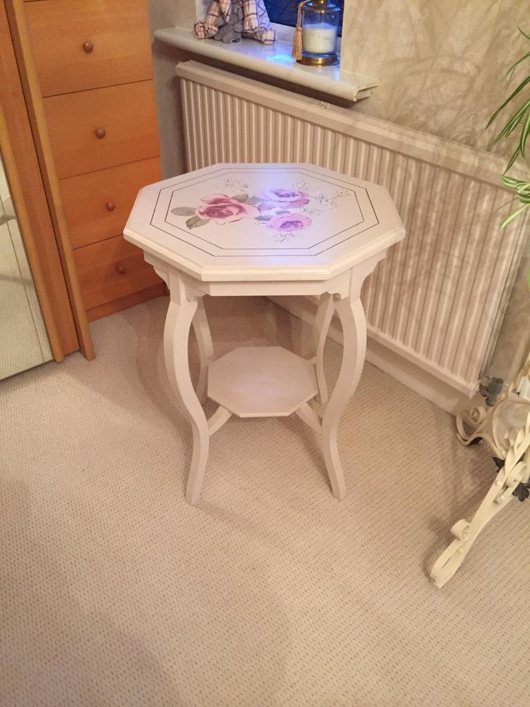 Cream vintage looking rose table