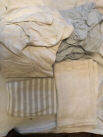 Bundle of sheets and blankets