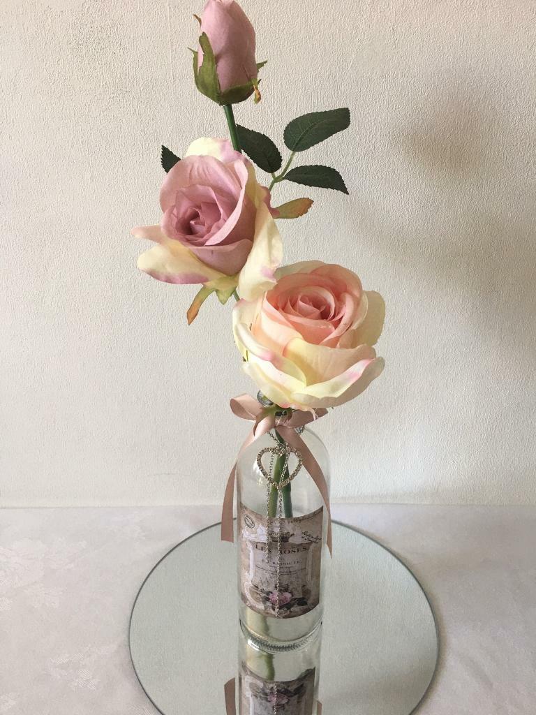 Artificial Flower Arrangement In Vintage Trinket Bottle In Harlow Essex Gumtree