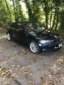 BMW 1 Series M Sport Convertible-black with red leather