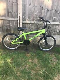 """TRAX BMX BIKE WITH REAR STUNT PEGS, 20"""" WHEELS, fully working and good used condition"""