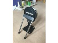 Alesis Electronic Kick Bass Drum Pad & Stand E-Drum Trigger Pads Rubber White Head Cool SPD DM Kit