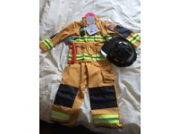 Firefighter dress up suit age 5-6 new with tags