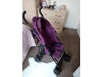 Redkite purple pushchair