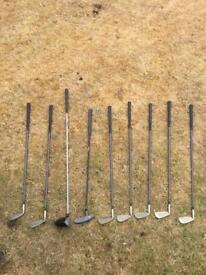 Set of 9 Bel Air Golf Clubs
