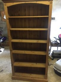 Solid Pine Book Case with 6 Shelves