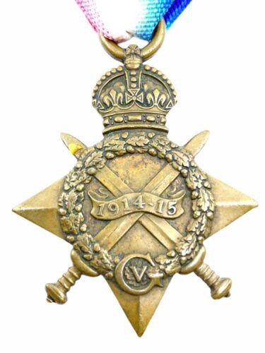 WW1 British BEF 1914-15 Star 24 Pte H Davies Army Cyclist Corps