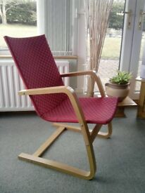 "Red Laminated Beech Frame ""Stockholm"" Chair"