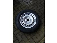 new tyre and rim for vw golf