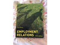 Employment Relations by Ed Rose - 3rd edition