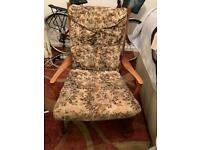 ENGLISH MID CENTURY 60S 70S PARKER KNOLL MODEL PK 1016 ROCKING CHAIR.