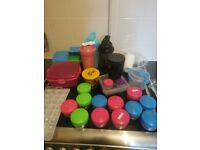 Plastic kitchen lunch food containers