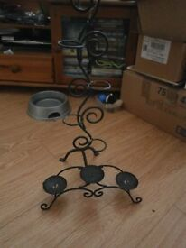 For Sale 2 x wrought iron candle holders