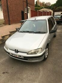 2002 Peugeot 106 1.1 Independence in Silver with Orange interior - 35,974 Miles