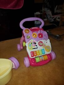 Fisher price bike/horse and vtech walker
