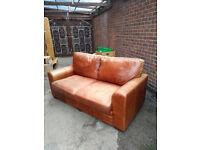 Brown Leather sofa *** Free ***