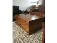 Beautiful Laura Ashley Garret Honey 9 Drawer Coffee Table