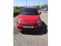 2015 RED FIAT 500 S (start stop) Brand New MOT (Expiry date 20th May 2019) £30 a year Tax