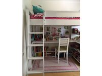 High Sleeper Single Bed with desk and chair