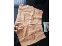 Good Condition Women's High Waisted Brown Shorts. New Look Size 8