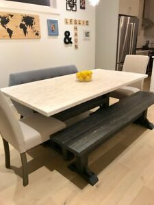 Hand crafted Rustic Trestle Dining Tables