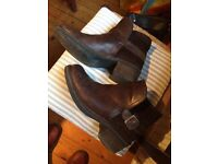 Fly brown leather boots size 6