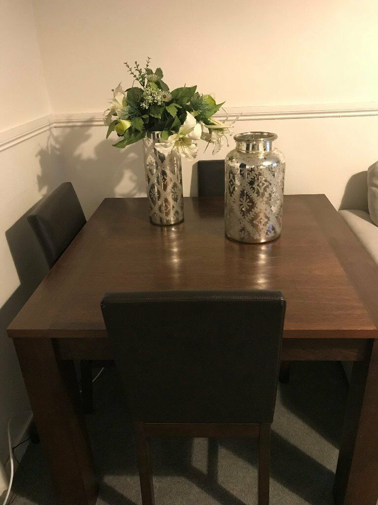 Homebase Dining Table Set 4 Chairs And Matching Coffee Table Excellent Condition Walnut In Camden Town London Gumtree