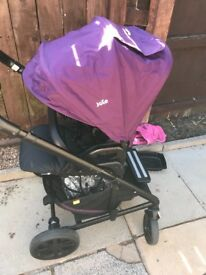 Joie push chair with car seat adapters