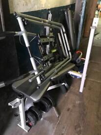 Weight bench with weights step machine lots more