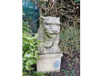 Stone gargoyle/bull dog garden ornament