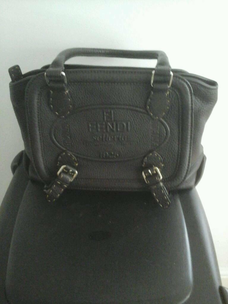 Rare Vintage Fendi Leather Bag  fa922e79cfca2