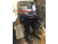 25HP JOHNSON COMMERCIAL OUTBOARD BOAT ENGINE LONG SHAFT SPARES OR REPAIR