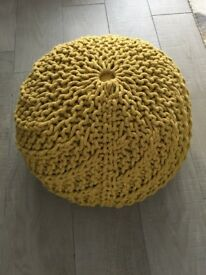 Habitat 'Knot' knitted round footstool