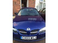 NISSAN ALMERA, BLUE, VERY LOW MILEAGE, 1,4L/3DOORS/IMMACULATE CONDITION