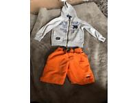 Boys hoodie and shorts