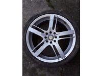 17 inch x 7 1/2 J BSA Alloy wheels