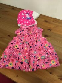 Peppa pig gilet and hat
