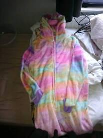 Ladies multi colored unicorn onesie